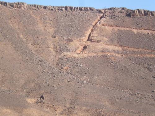 Una mina de baritina en la montaña
