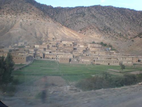 Pueblo en el Alto Atlas